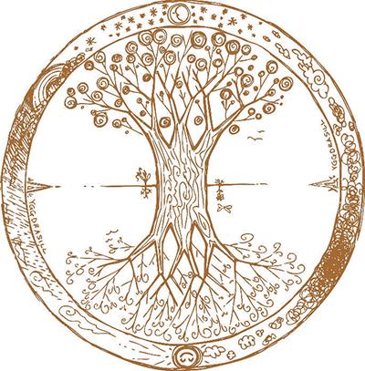 18526856 - yggdrasil celtic tree of life mandala