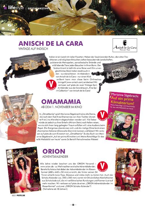 Weihnachtskalender Orion.In The Press Anisch De La Cara